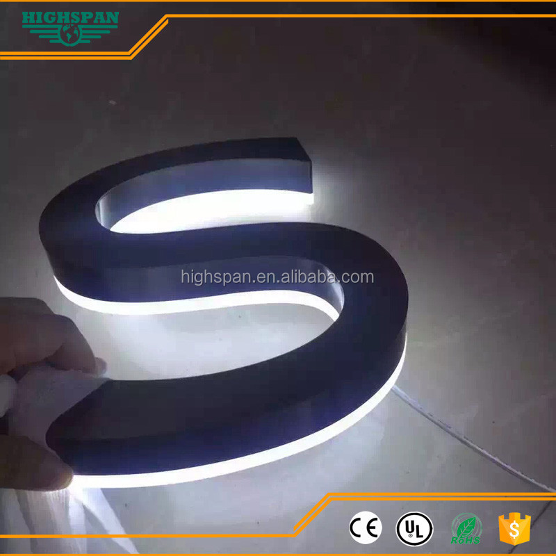 customized fine fabricated acrylic LED signs with channel letter halo lit