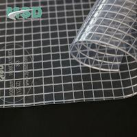 Clear Hdpe Tarpaulin Waterproof Fabrics Vinyl Clear Mesh PVC Coated Fabric