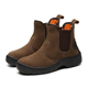 High Quality Nubuck Leather No Lace Work Boots