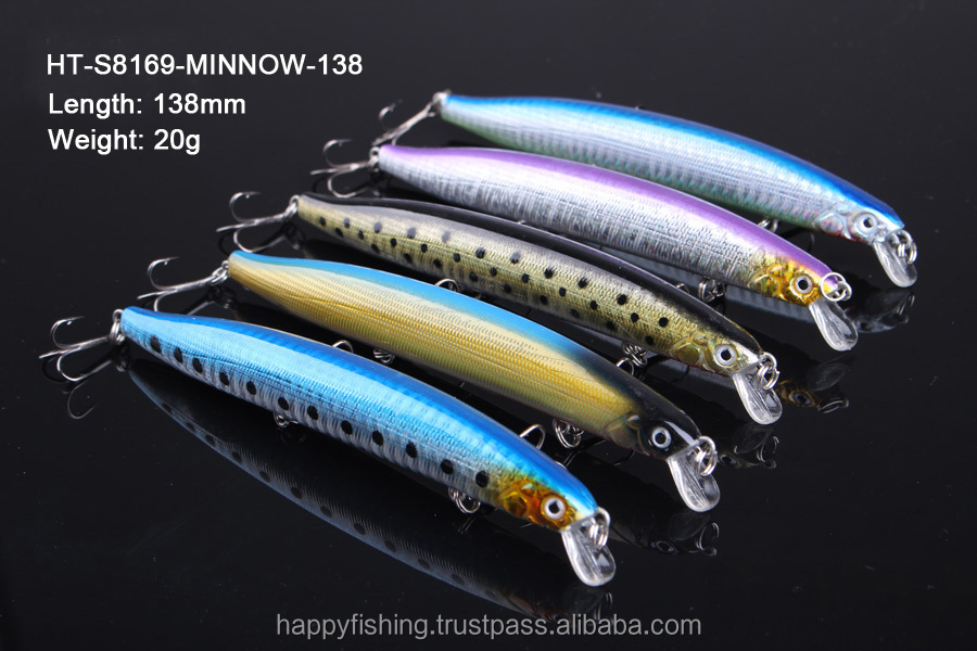 Premium Quality Medium Minnow crankbait lure hard plastic fishing lure wholesale
