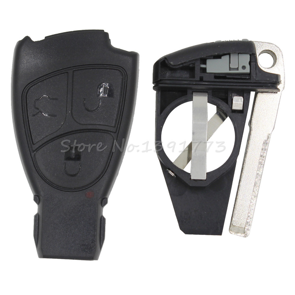uxcell New 3 Buttons Key Fob Remote Control Case Shell Replacement for Mercedes Benz