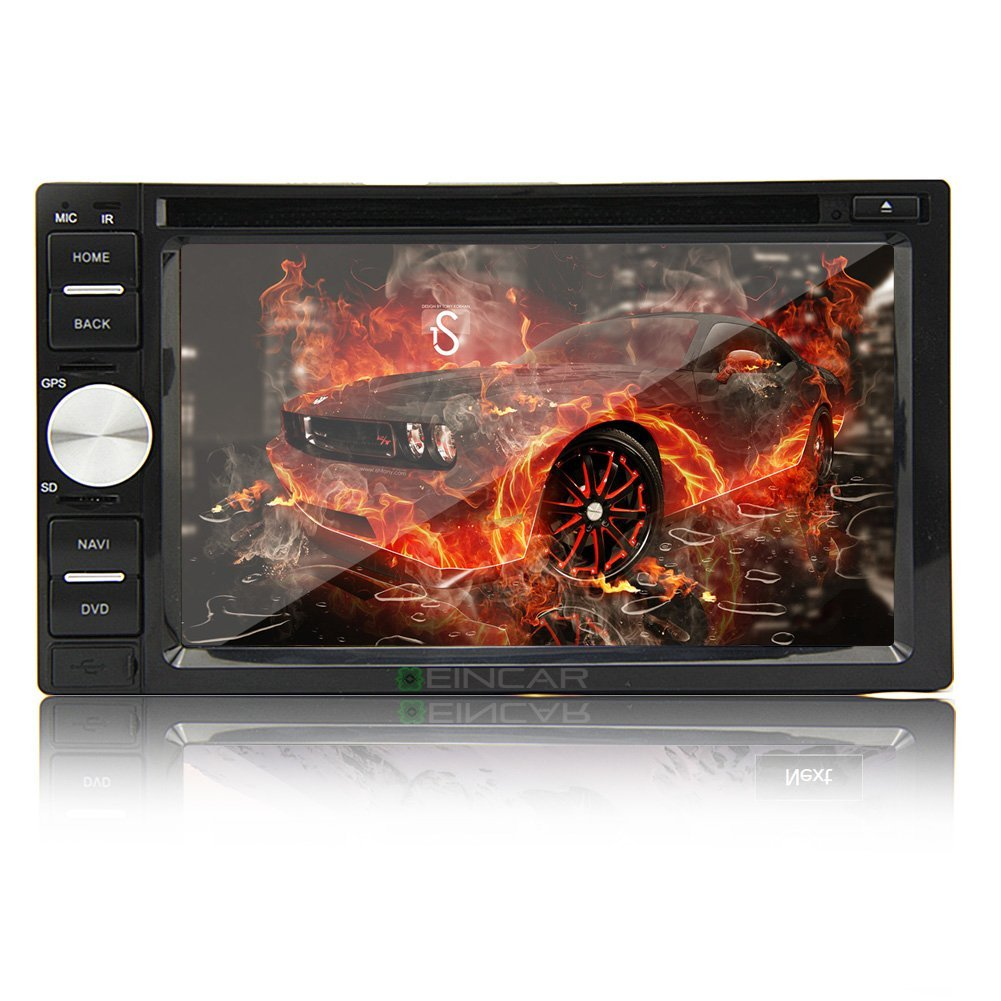 Christmas Sale!!! CD PUPUG Audio In Dash Auto Two Din 7 inch Motorized Touchscreen DVD DVD CD USB SD MP4 MP3 Accessory Player Receiver Bluetooth Streaming Bluetooth Player Hands free with Remo