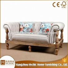 Hot Selling squared-off seat led leather sofa arm wood chair