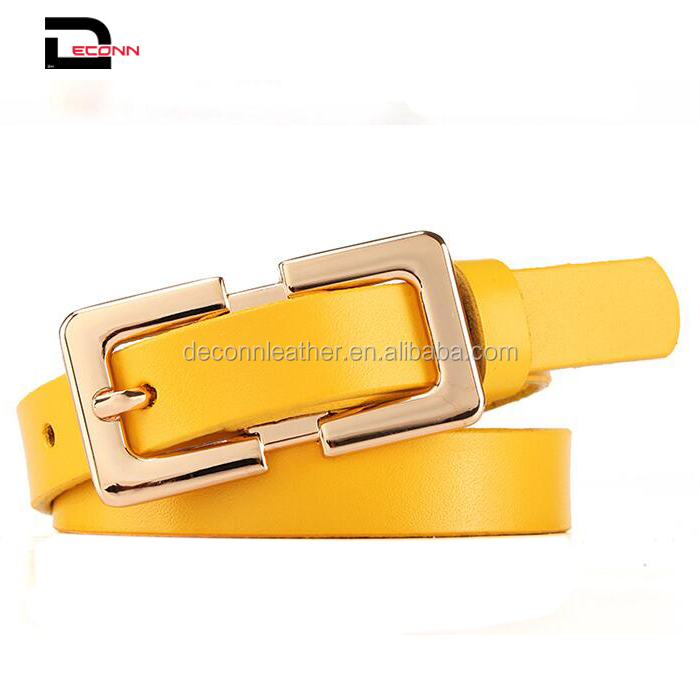 Factory Wholesale Woman Lady Vegetable tanned Full Grain High Quality Belt for Pants Dress Jeans Waist Belt