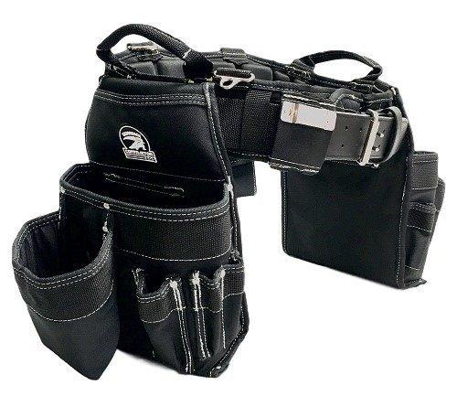 "TradeGear MEDIUM 31-35"" Carpenter's Combo Belt & Bag – Strong & Durable Carpenter Tool Belt Designed for Optimum Comfort – Sufficient Carry Space for All Your Carpenter Tools – Partnered w/GatorBack"