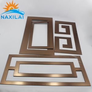 NAXILAI Customized Gold 1MM Thick Acrylic Mirror Acrylic Mirror Sheet Designs 2MM Mirrors Decor Wall Window