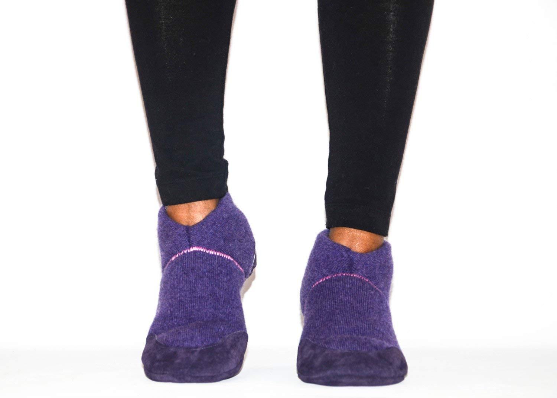 Women Cashmere Slipper Socks, Women Leather Shoes, Eco-friendly Women Felted House Shoes
