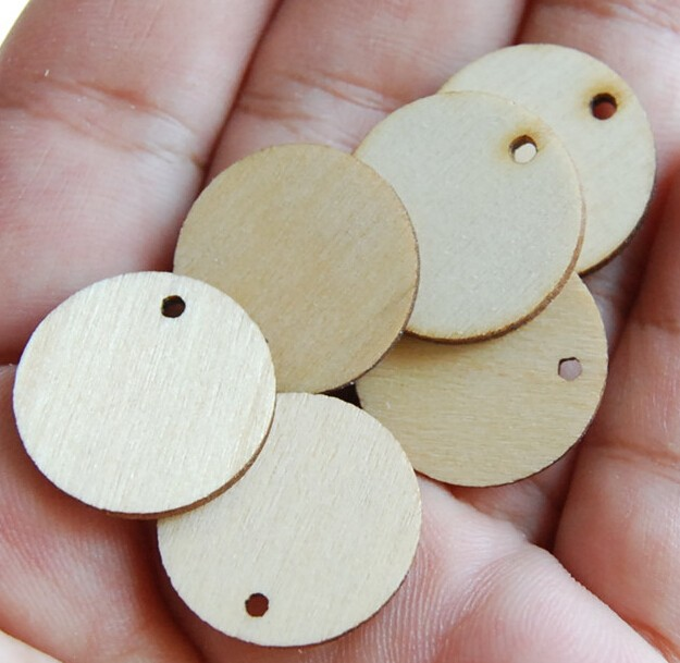45mm Customized Craft Blank Wood Round Chips,DIY Wood Chips for craft projects