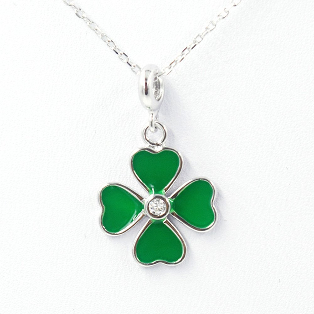 """396ee94e2045c8 Buy Aamina """"Four Leaf Clover""""Pendant Necklace For Girls and Women ..."""