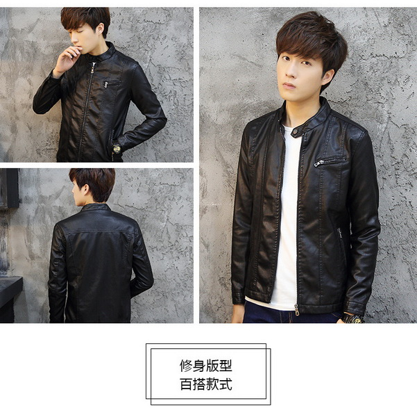 Men's leather jacket fashion leather jacket for man,mens winter coats parka