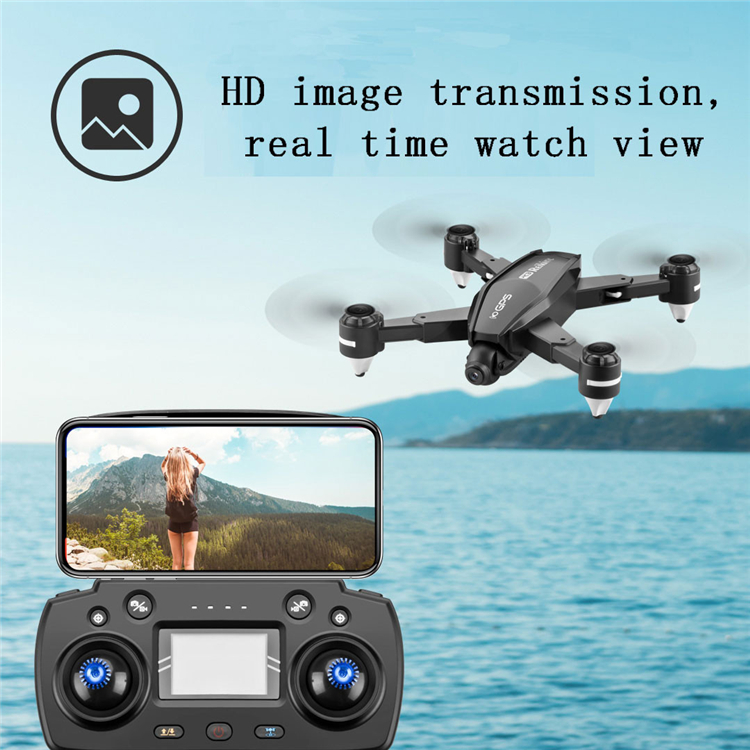 The new 4K high-definition aerial GPS drone intelligent positioning follows the four-axis aircraft R3 folding remote control