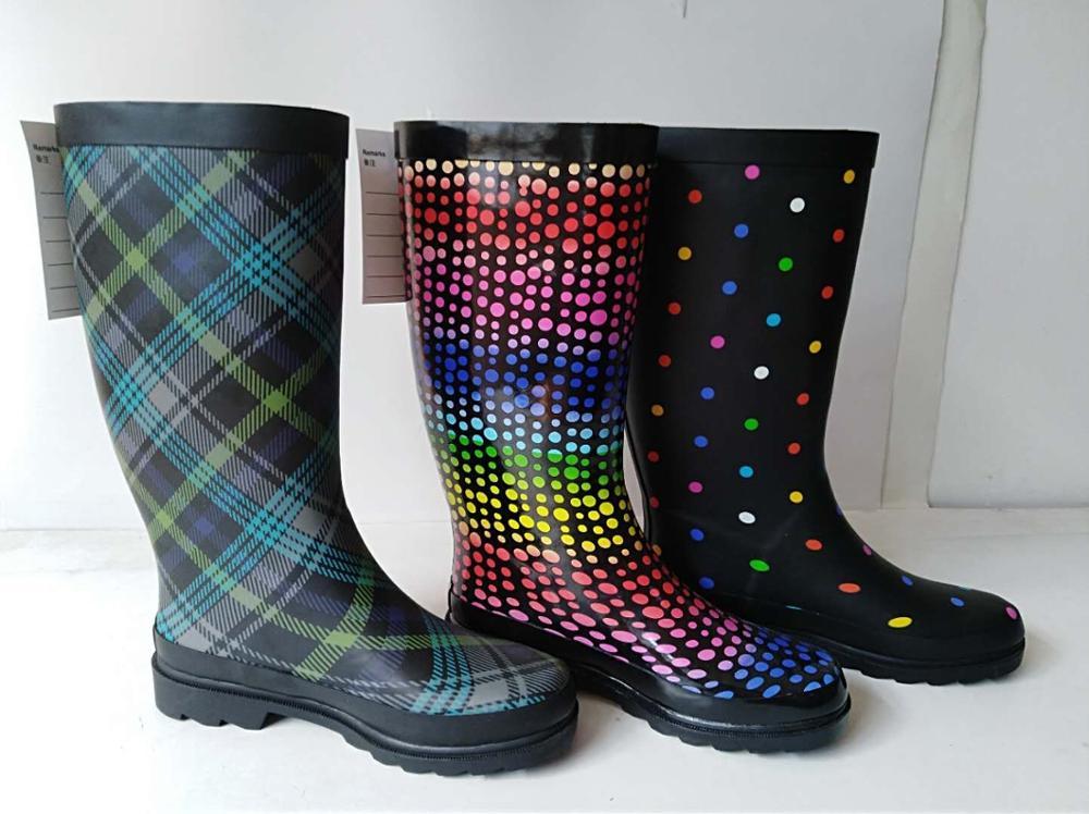 006b70f83b05 Comfortable Chelsea Ankle Ladies Ankle Rain Boots Women Leopard Rain Boots.