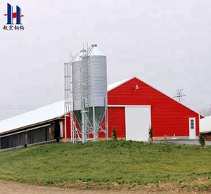 China low cost prefab steel frame structure poultry house/poultry barns