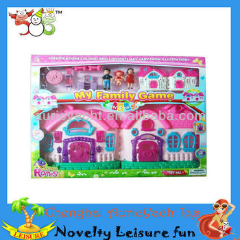 Dolls House Furniture,plastic Castle Play House,neon Color Lighting Musical  Kids Toy Castle