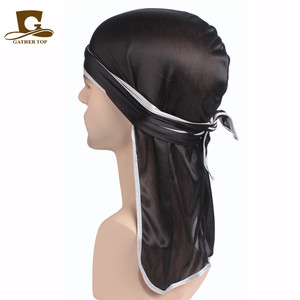 2018 Popular Silk Durag Do Doo Du Rag Long Tail Headwrap Unisex Silky Bandana Caps Bulk Silk Rags Cheap ragsTJM-05A