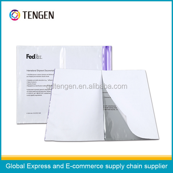 Fedex invoice envelope for courier
