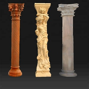 Front Door Carved Marble Column And Marble Pillar Round Designs