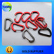 China cheap mini carabiner clip,colorful flat carabiner clip,shaped aluminum carabiner clip
