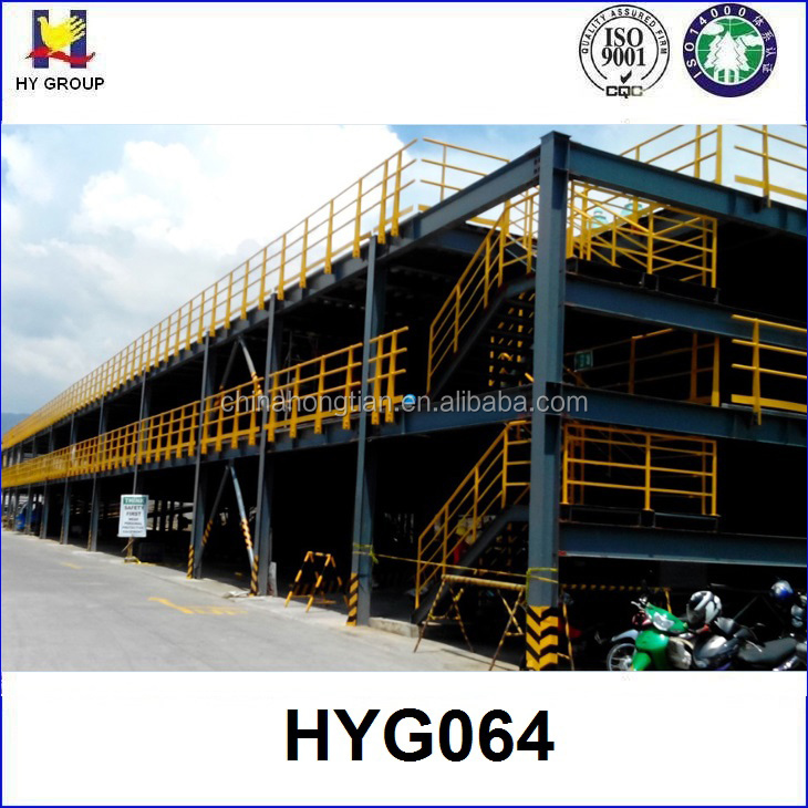 3 floors vertical steel structure for car parking shade system