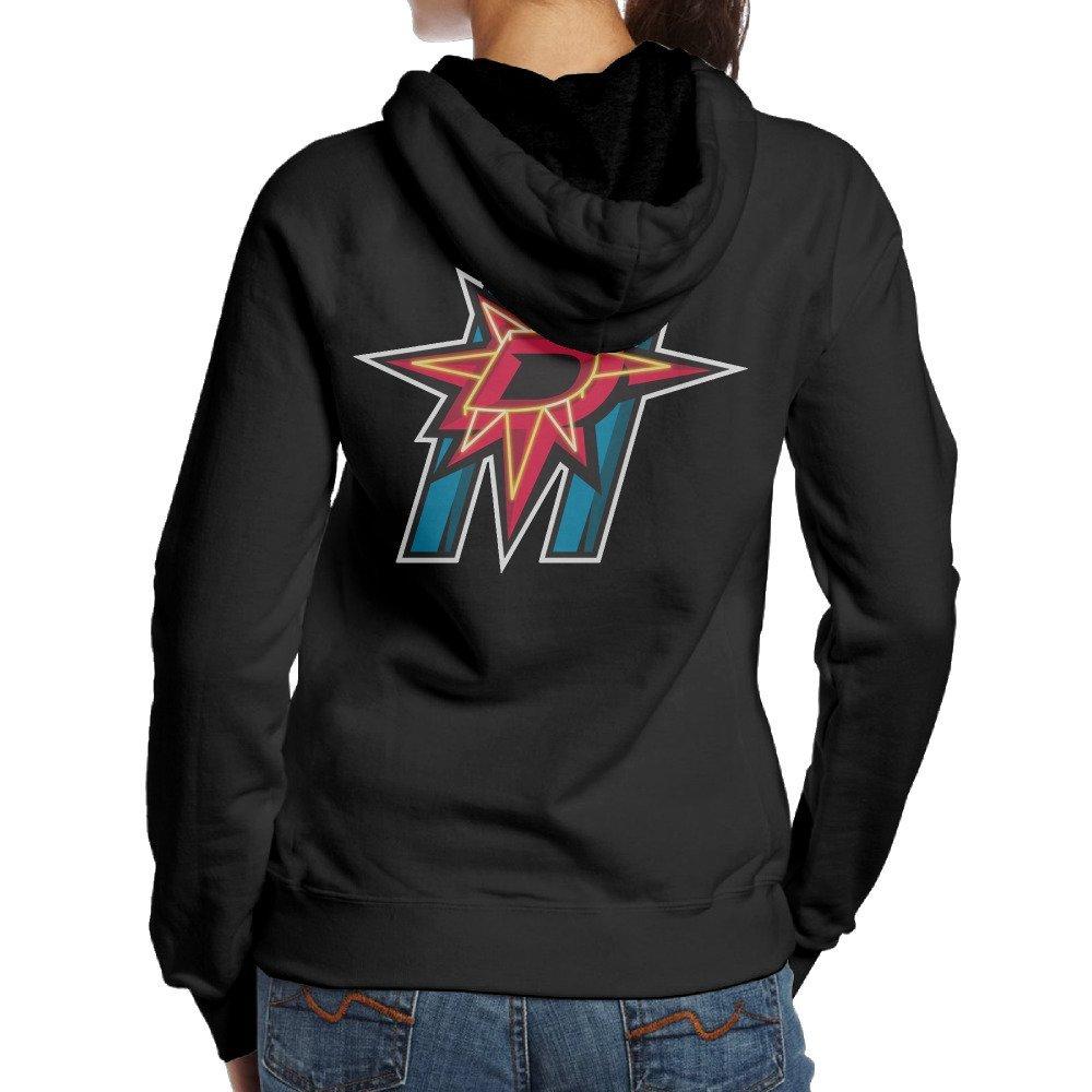 MCDB Women's Dallas Neon Lights Stars Sports Hoodies Black