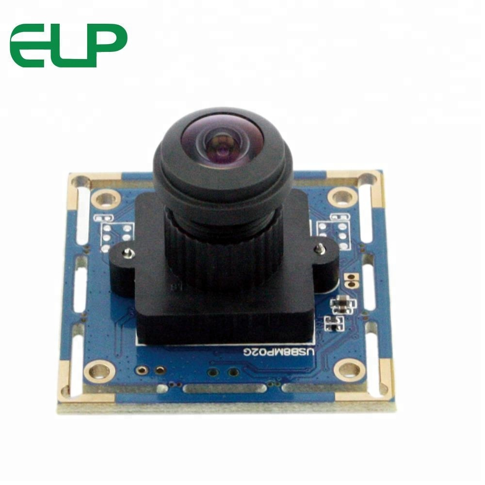 ELP Camera 180 Degree Wide Viewing HD Mini Fisheye Lens Security Camera 8MP With Sony IMX179 Sensor