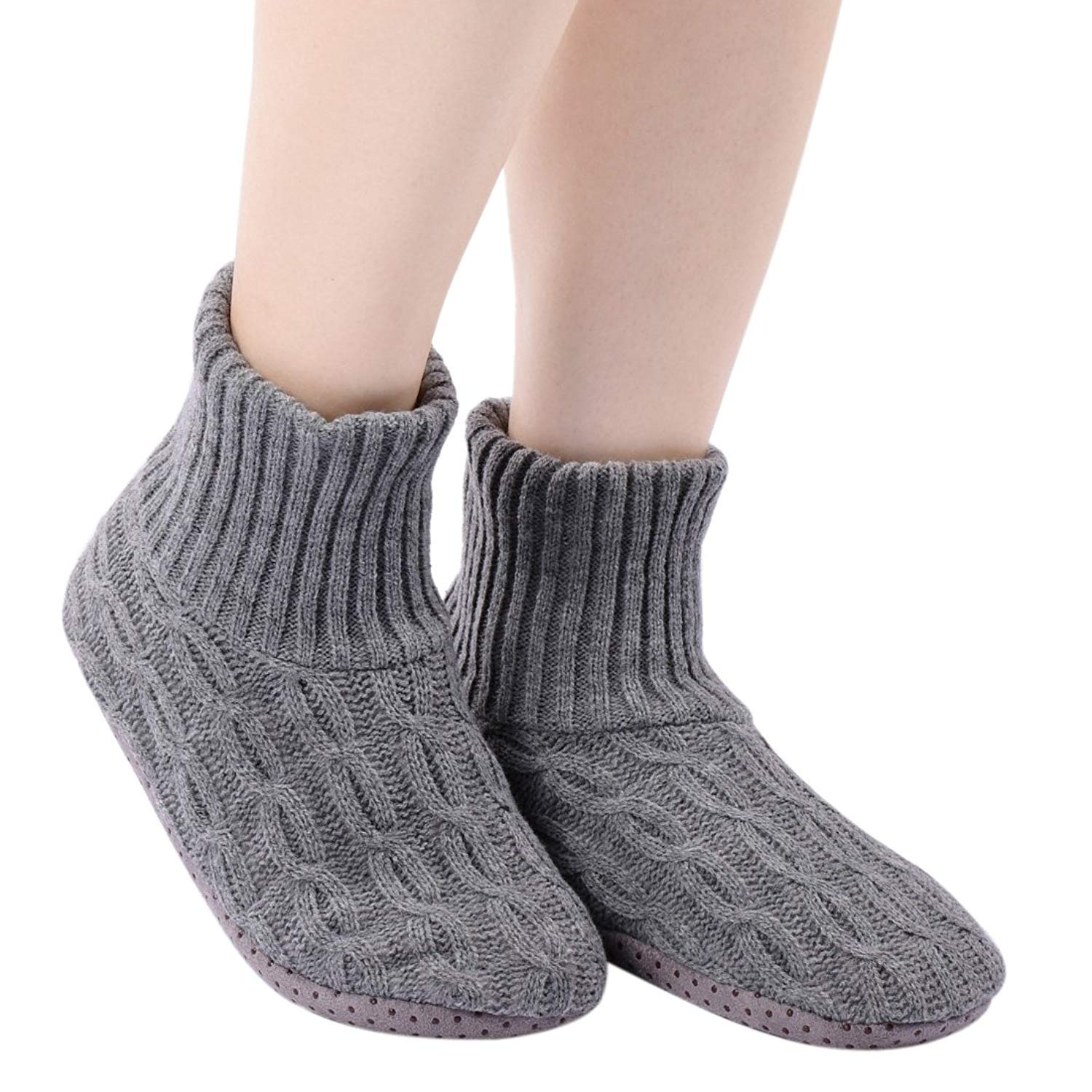 dd203c93c6 Get Quotations · PandaBros(TM) Soft Cozy Non-Skid Thick House Indoor Boot  Slipper Socks Shoes