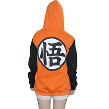 Trajes de Dragon Ball Z Goku Cosplay Com Capuz Da Camisola Do Hoodie Casaco Para Crianças E Adultos AY285 XXS-XXL