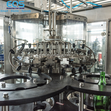 Carbonated Soft Drinks Production Line Glass Bottle Gas Water Filling Machine 10000BPH