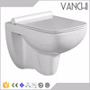 Bathroom ceramic wall mounted vaccum toilet wc parts