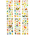 60 Sheets lot Pokemon Pikachu Cartoon Stickers 6 Styles 3D Puffy Anime Stickers Toys Gift for