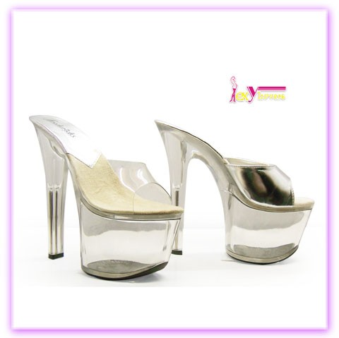 China wholesale girls high heel shoes sexy ladies simple clear platform fashion sandals