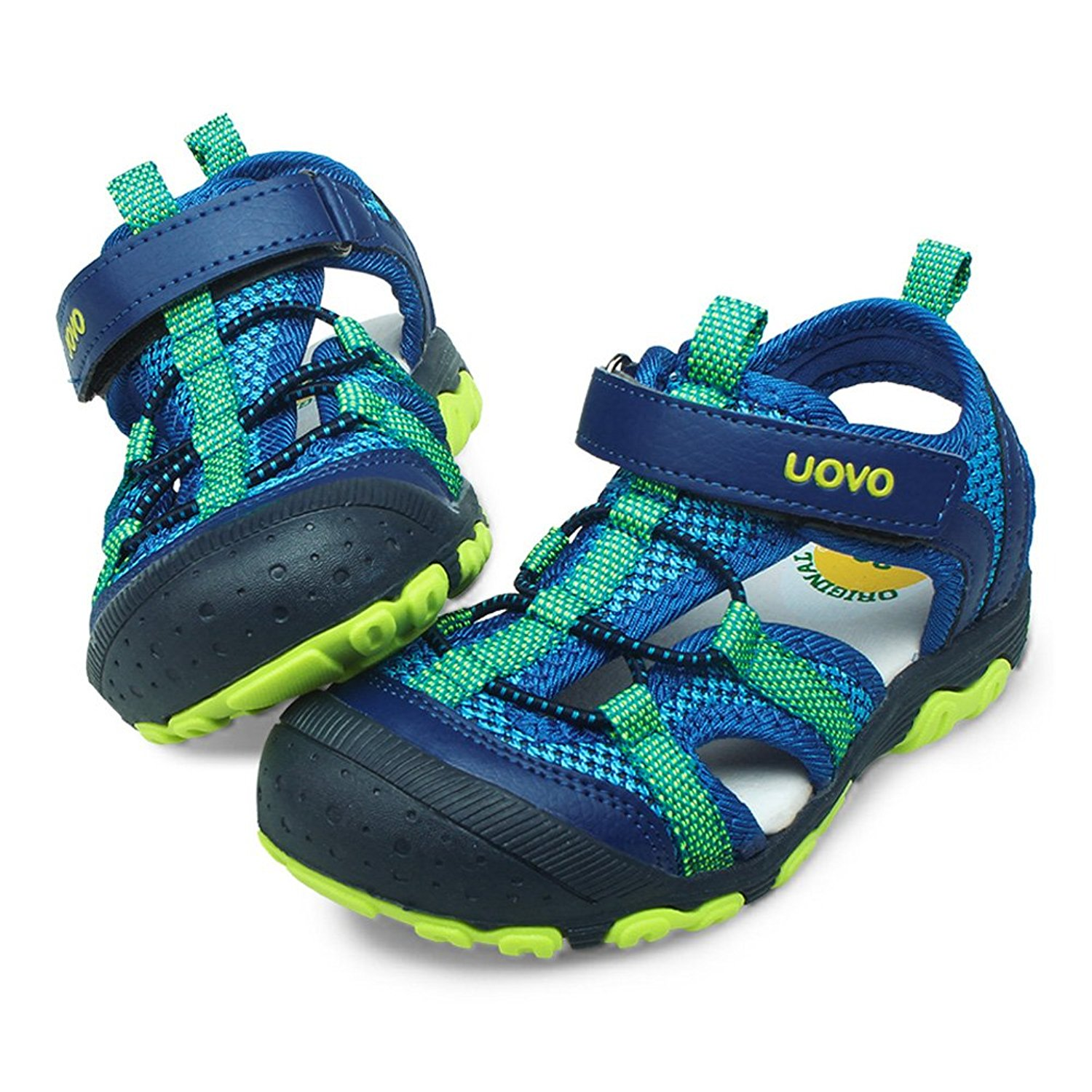 225913bc941 Get Quotations · UOVO Boys Sandals Hiking Athletic Closed-Toe Beach Sandals  Kids Summer Shoes