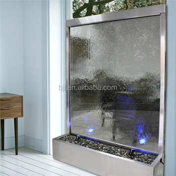 Glass Curtain Wall Room Divider With Indoor Waterfalls For Homes