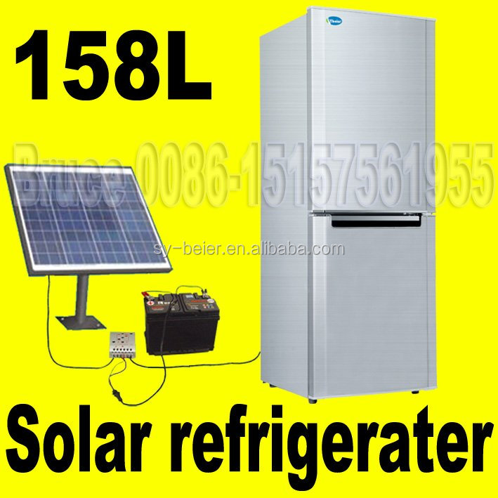 Solar <strong>refrigerator</strong> 12v solar powered fridge freezer 158L