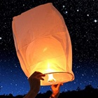 Boomwow Kongming Lantern Chinese Sky Lanterns Paper Sky Flying Floating Fire Candle Wishing Lamp for Party Wedding Birthday