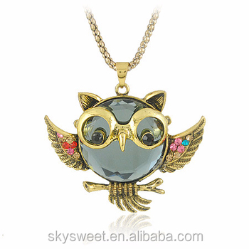 les mieux notés super populaire grandes variétés Original Lunettes De Soleil Collier De Hibou,Manteau Chaîne Colliers  (swtju418) - Buy Collier Hibou,Colliers Chaîne,Collier Hibou Product on ...