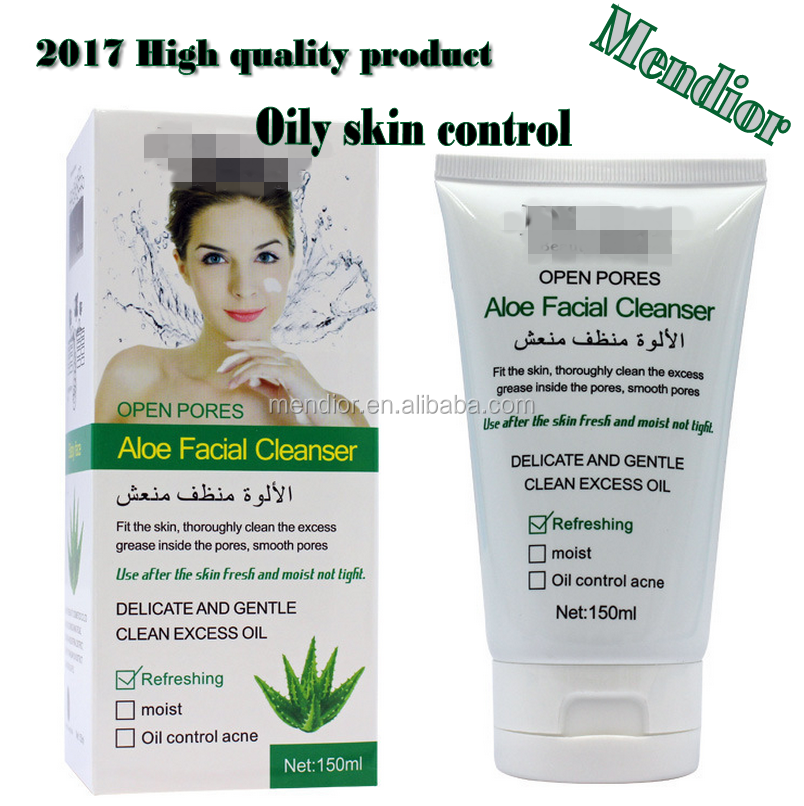 2018 High quality Aloe Facial Cleanser skin Whitening Acne-removing shrink pores face fresh cleanser