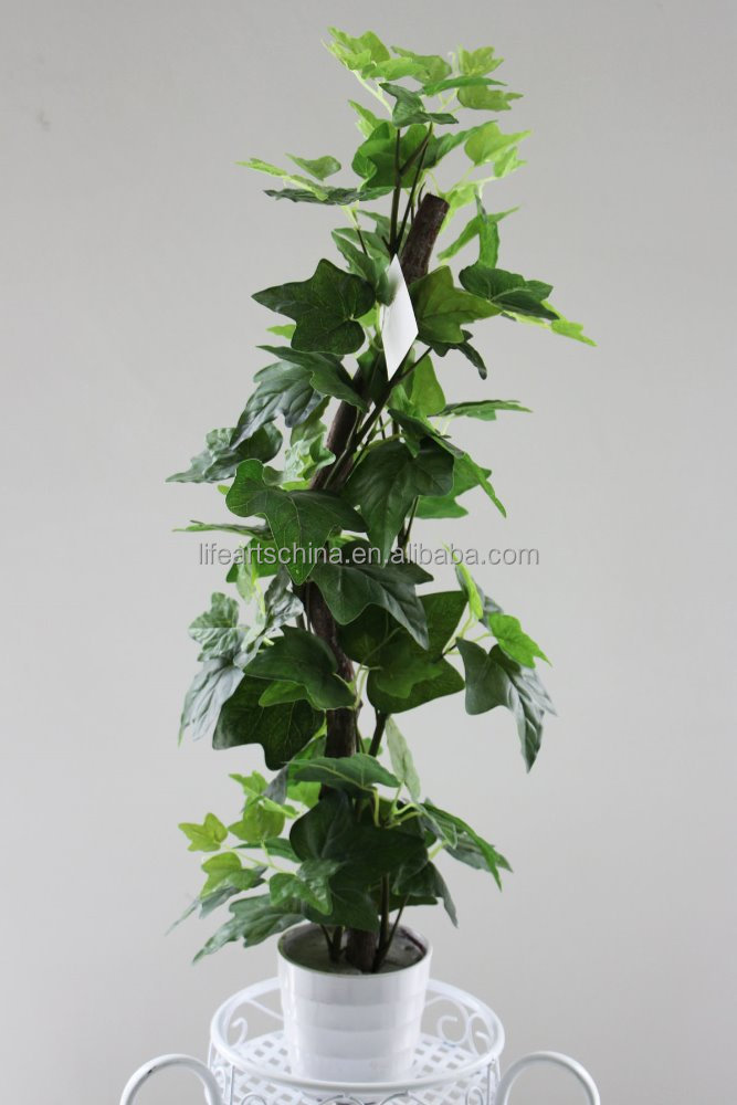 potted ivy topiary, artificial plant