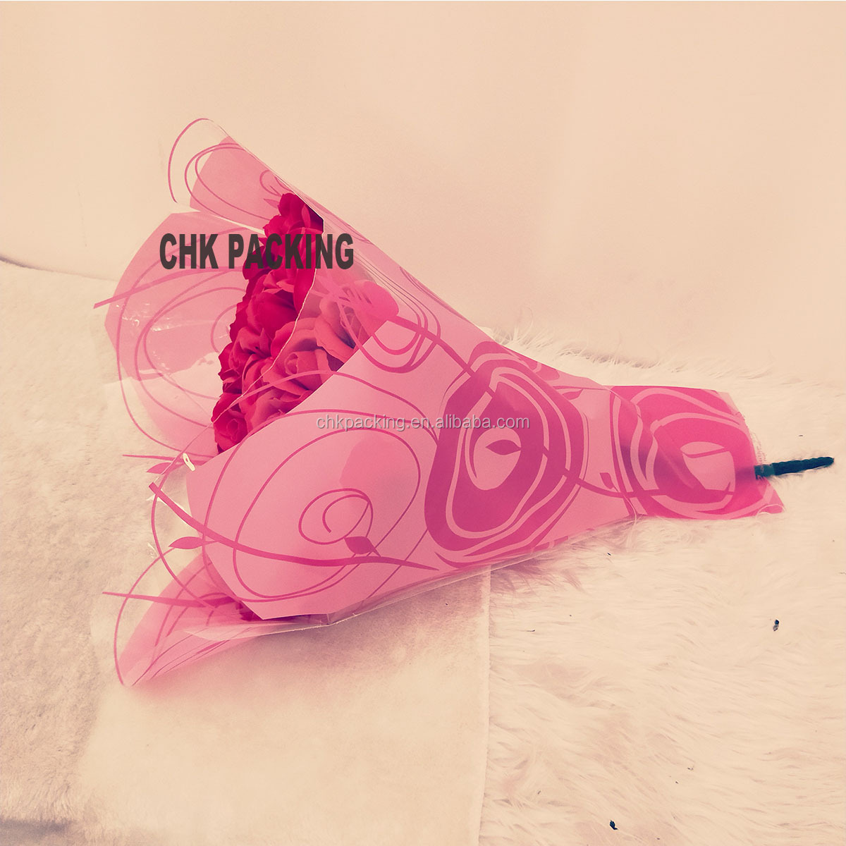 high quality support online order opp Plastic Flower Bouquet Sleeves