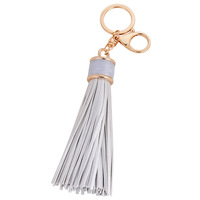 Women Leather Tassels Key Chain 2016 New PU leather Car keychain bag High Quality key ring for women bag jewelry