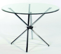 Dining table with glass top designs with AS/NZS2208:1996, BS6206, EN12150 certificate