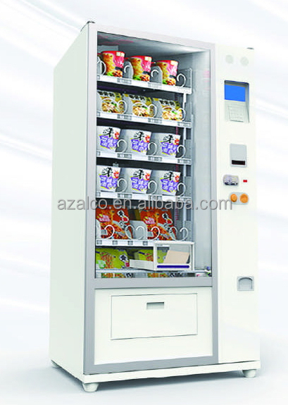 Combo vending machine beer cans bottle drink milk water tea with cooling system and changer prices