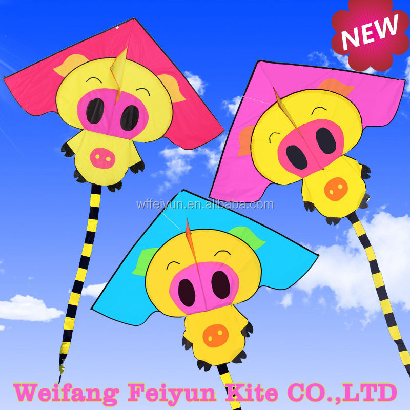 2016 New product small pig kite for kids from the kite factory