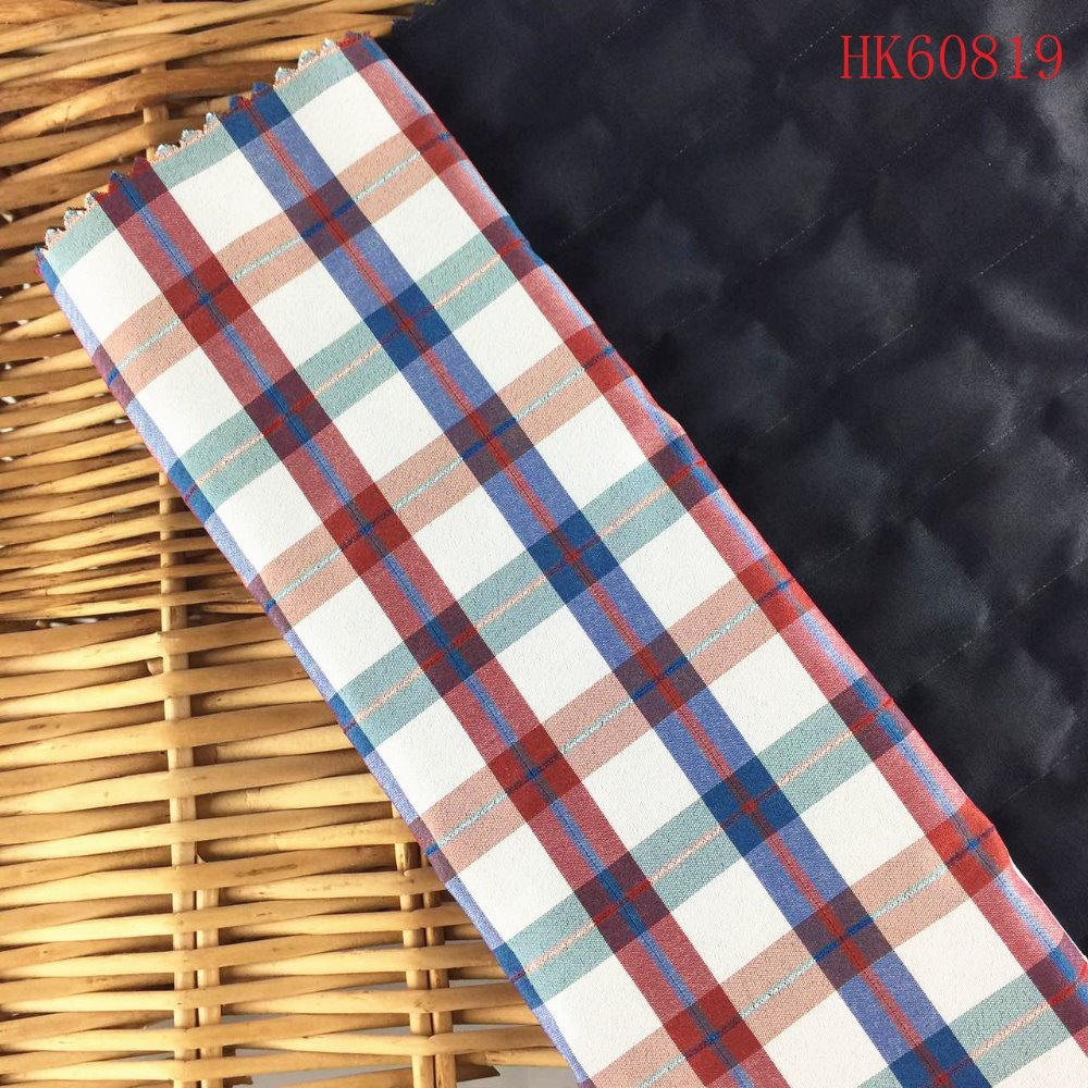 Woven ripstop two layer 95polyester 5spandex fabric for coats