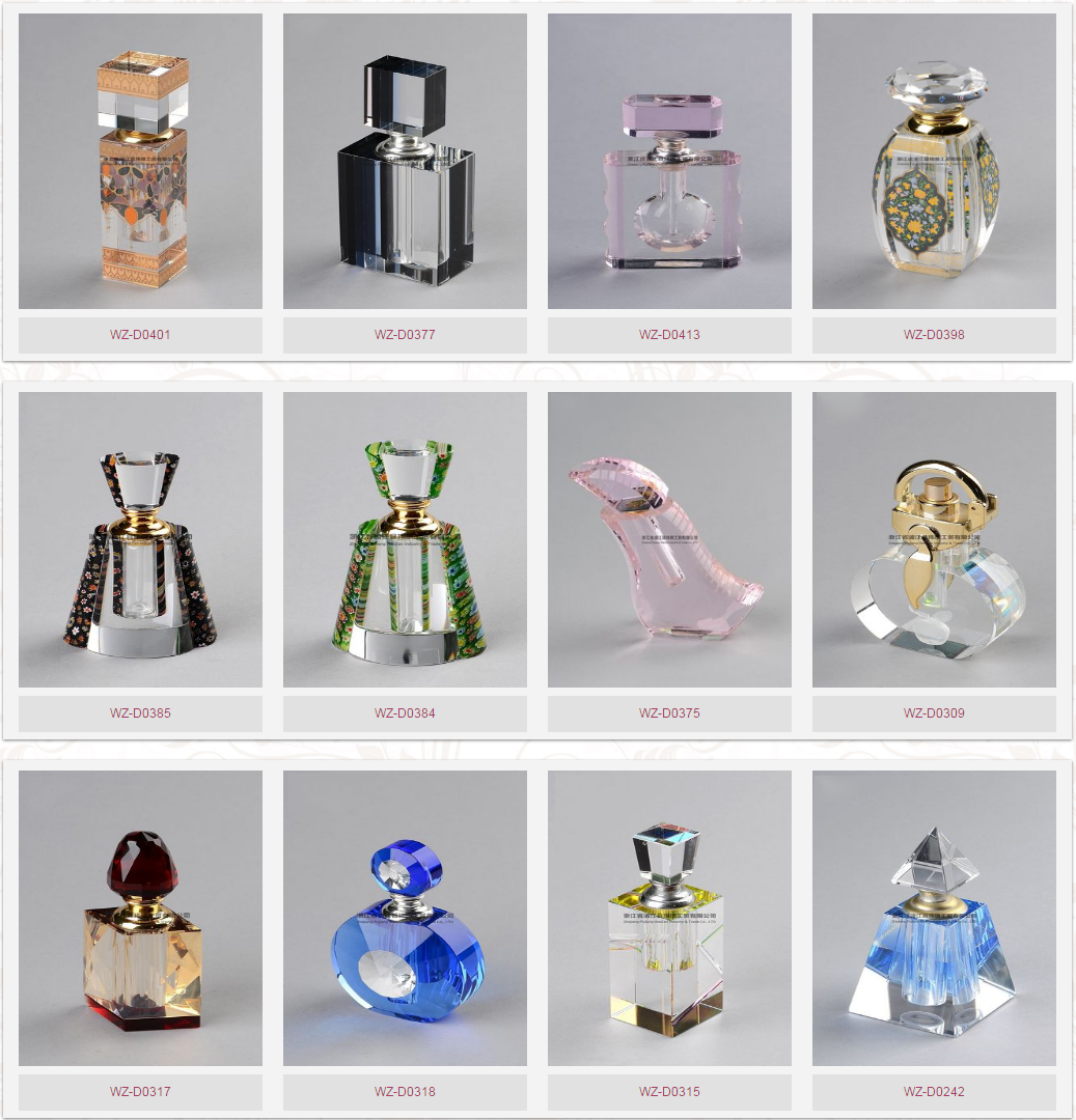 2019 Luxury New Design Blue Perfume bottle 6ml 10ml 20ml 35ml 100ml empty oil perfume crystal glass bottle spray of perfume