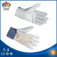 FT SAFETY White Cow Grain Palm Split Back Driver Gloves,hand gloves for girls