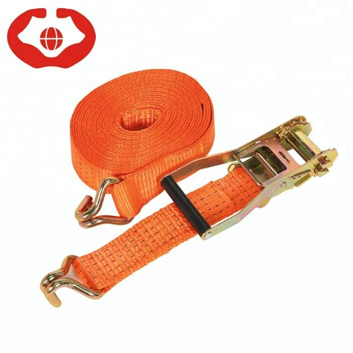 "2"" 5 ton 50mm cargo lashing 15 feet ratchet tie down cargo straps 2 in ratchet straps with CE approved"