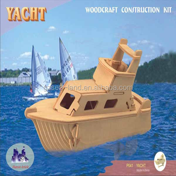 Water Craft Series - Yacht Model Wooden 3D Puzzle,Puzzle Game Educational For Kids Various Styles Hoting Selling