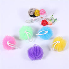 Promotional natural loofah nylon mesh bath sponge in water-melon type