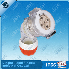 56 series eletric angle extension socket 40A 500v three phase industry socket waterproof socket and plug